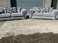 Grey dfs 3 seater sofas x 2 couches, furniture 🚛🚛🚚🚚