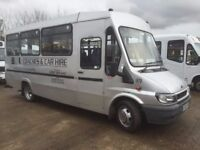 FORD TRANSIT 350 LWB 2.4 TDI 17 seater minibus 2002/52 in silver