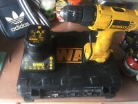 Dewalt drill 2 battery case charger