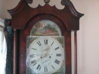Antique grandfather longcase clock