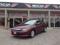 2012 Honda Civic LX AUT0 A/C CRUISE CONTROL ONLY 88K