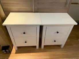 IKEA HEMNES WHITE STAIN MATT 2 DRAWERS IN EXCELLENT CONDITION