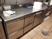 UNDER COUNTER FRIDGE FOR RESTAURANT Commercial Catering Meat Dairy Cafe