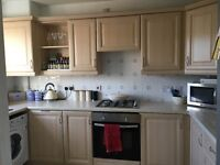 Kitchen units with oven and hob