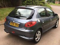 2006 peugeot 206 sports.automatic.5 door.grey.