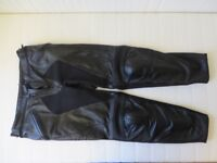 Dainese Lady's Black Leather Motorcycle Trousers
