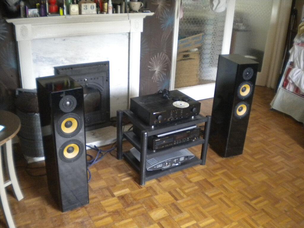 Sony Ss B4ed Floor Standing Bi Wire 150w Hi Fi Speakers Rrp 299 Wiring