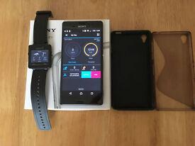 swap my SONY XPERIA Z3 16B MOBILE PHONE IN BLACK ***BOXED****UNLOCKED+Garmin VivoActive