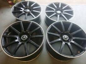 "MERCEDES AMG STYLE 19"" 5X112 STAGGERED ALLOY WHEELS VW SEAT SKODA AUDI"