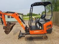 Kubota KX 015-4 1.5 tonne mini digger 2015 Serviced ready for work