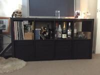 Ikea Kallax 4x2 shelving unit black