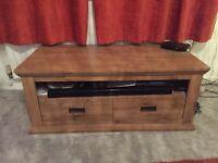 Oak/beech veneer coffee table