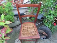Chair with a Wicker Seat