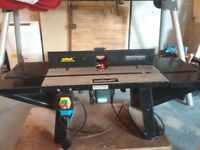 Bosch router and wolf craft router table