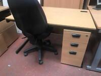 Budget Straight Desk & Under Pedstal