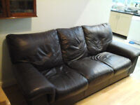 Dark Brown 3 Seater Leather DFS Sofa, Only £45.00