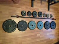 Weights and bar (cast iron)