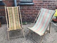 Vintage 1960s/70s Deckchairs