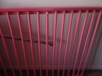 Four poster pink single bed
