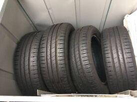 4 Goodyear Efficient Grip tyres 185 x 55 R15 min 6-7mm tread
