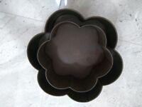 Heavy duty flower shaped cake tins wedding