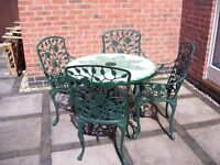 Garden Set Mosaic Table And x4 Chairs,