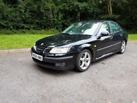 2004 SAAB 9-3 STUNNING LOOKING CAR WITH HALF CREAM LEATHER INTERIOR MOT UNTIL MARCH 2017