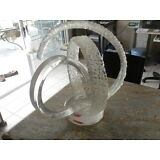 Vintage Van Teal Lucite Acrilic Sculpture Mid century Modern Abstract Signed