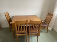 John Lewis 'Ellis' dining table and matching chairs