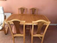 Dining table and chairs-FINAL REDUCTION!!