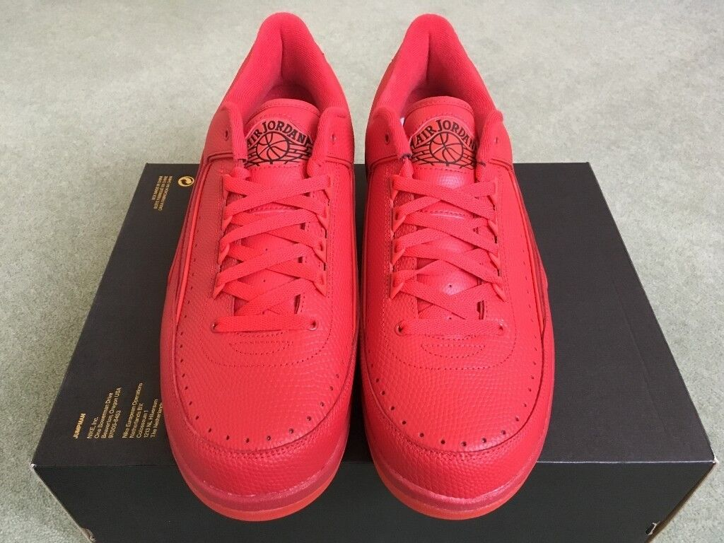 94855f991deccb Nike Air Jordan 2 Retro Low in Gym Red UK 12 832819-606