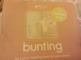 Baby bundle Gro bags, sheets, muslin cloths and bunting