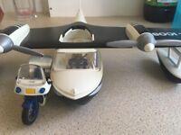 Playmobil plane and bike