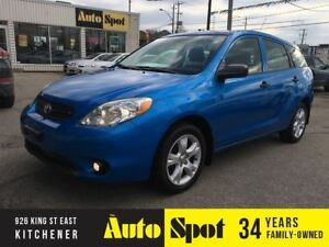 2007 Toyota Matrix LOW, LOW KMS!/PRICED FOR A QUICK SALE!