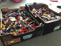 Huge boxes of LEGO bricks
