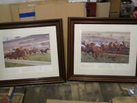 TWO LARGE RACING PRINTS SANDOWN AND ASCOT LOVELY PRINTS £75 ONO