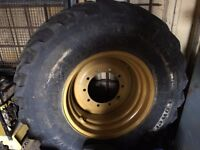 Cat 428/432 complete rear wheel 180/80-26 ind or 18.4 x 26 excellent condition