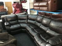 New/Ex Display Brown/Black LazyBoy Recliner Group Sofa (left or right side Corner)