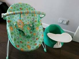 Bumbo and baby chair