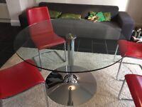 Calligaris Italian Round glass dining table