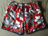 New navy & red swimming shorts from sports world