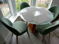 Luxurious dinning table and 4 chairs