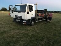 Man flatbed ,7.5 tonne ,scaffold lorry