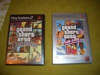 Playstation 2 Grand Theft Auto games
