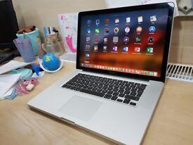 "Apple MacBook Pro 15"" Quad Core i7 Dual Cards Usb3"