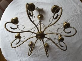 Endon Lighting 8 bulb ceiling chandelier light in an attractive brushed bronze effect.