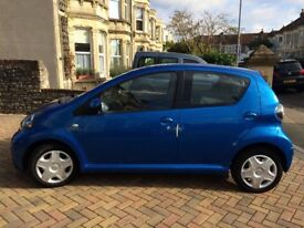 2010 Toyota Aygo 1.0 VVT-i multimode Automatic Blue 5 door Full Service History Only 34,000 miles