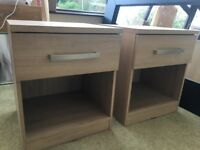 Pair of Next Oak Bedside Tables