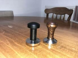 coffee tampers for a cafe/restaurant