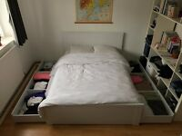 GOOD AS NEW: 2 x IKEA Double Bed with Mattress + Storage
